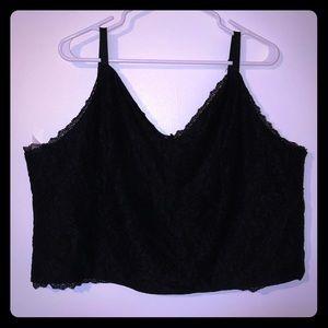 Lacey black crop top